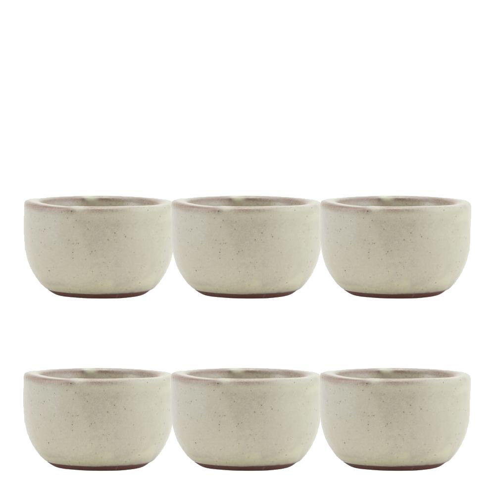 Ceramic Skål/Äggkopp 6-pack Sand