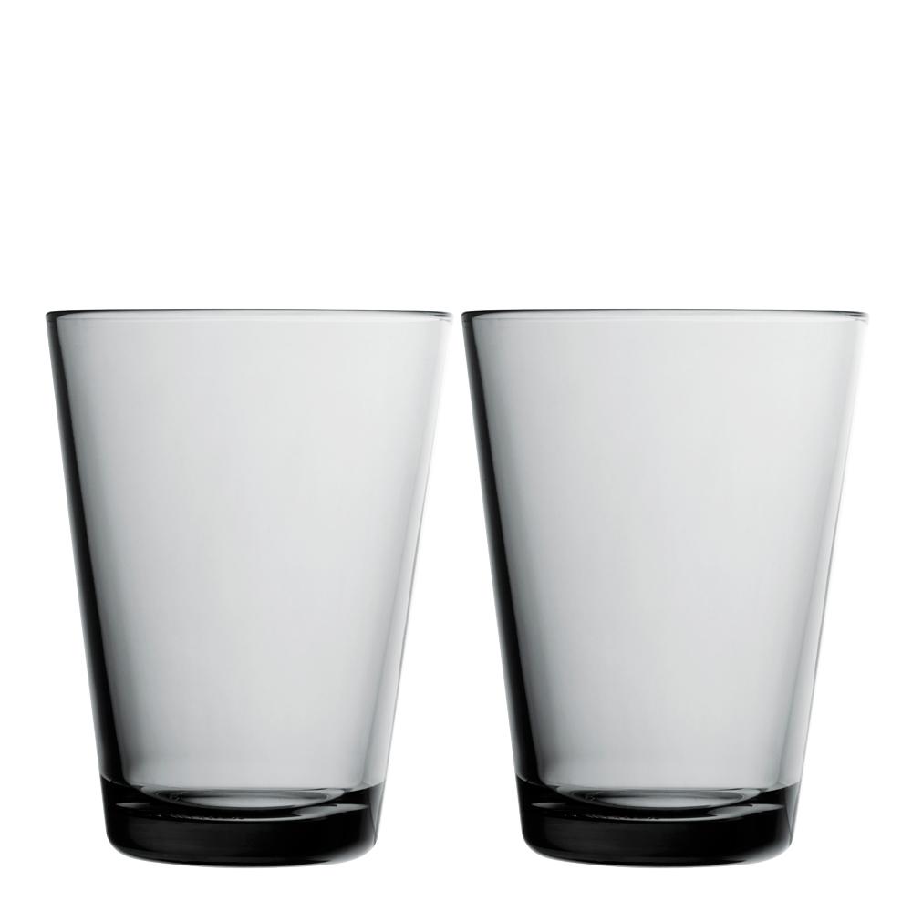 Kartio Dricksglas 40 cl 2-pack Grå