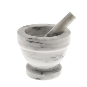 Backaryd Mortel i marmor 13 cm Vit