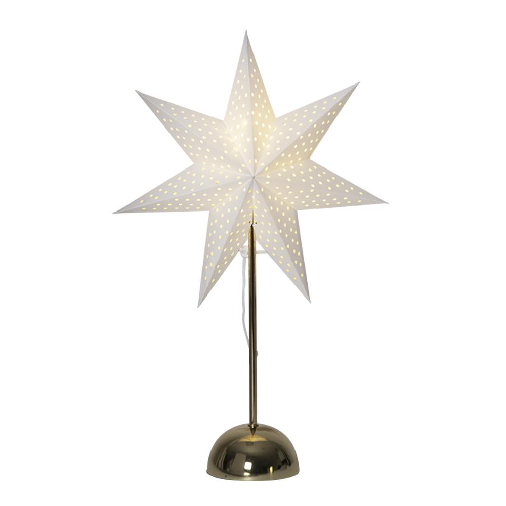 Lottie Stjärna på fot 55 cm Vit/Mässing