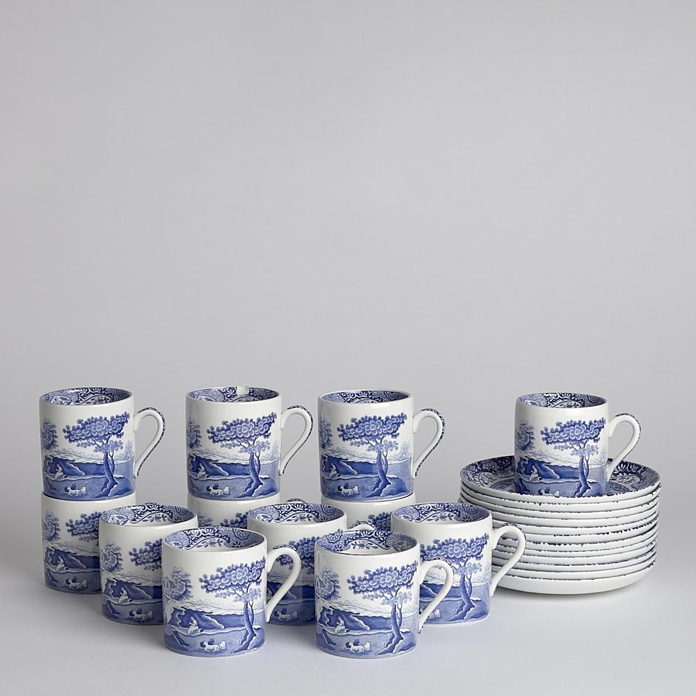 Vintage Kaffekoppar Spode 12-pack