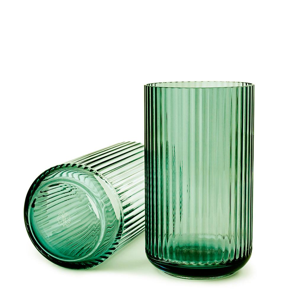 Lyngby Vas 20 cm Grön glas