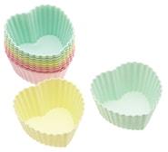 Cupcakeform Hjärta 7 cm 12-pack