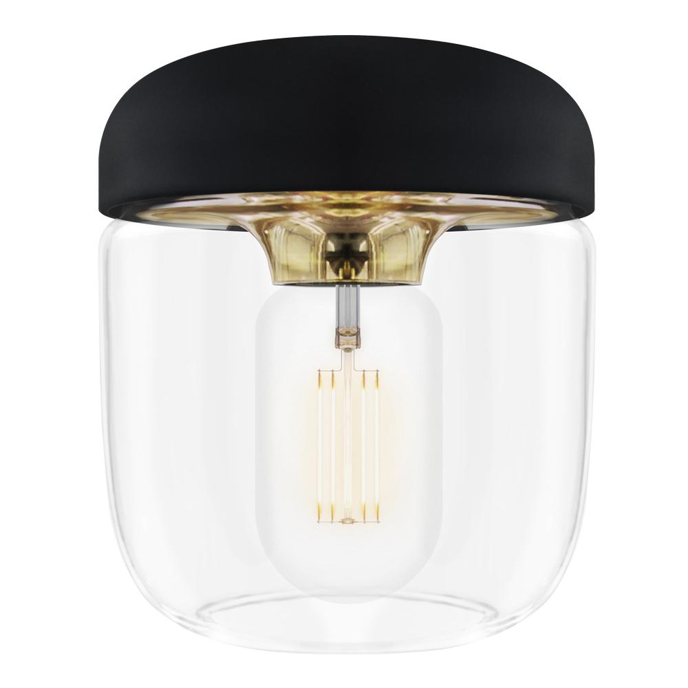 Acorn Lampa 14 cm Svart/mässing polerad