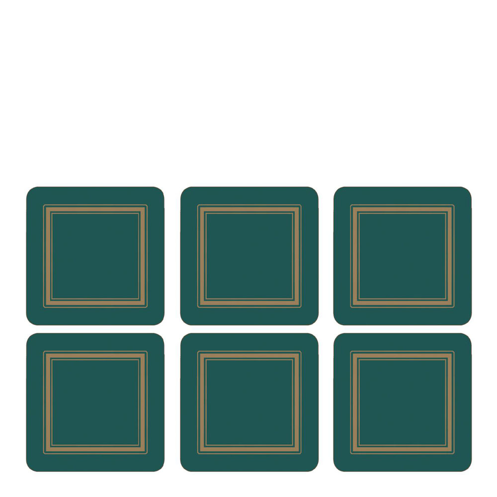 Classic Glasunderlägg 6-pack Emerald