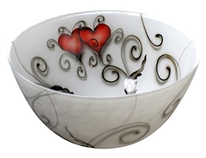 Crystal Ink Skål Heart 17 cm
