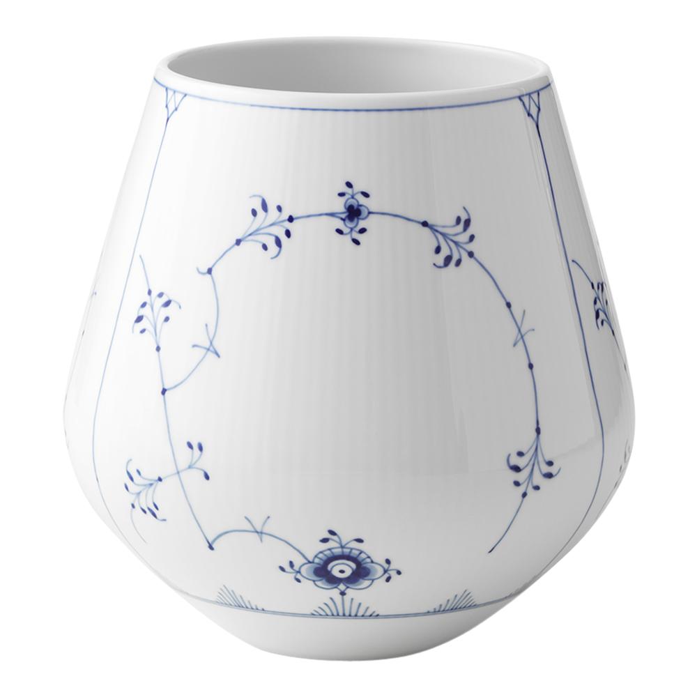 Blue Fluted Plain Vas 20