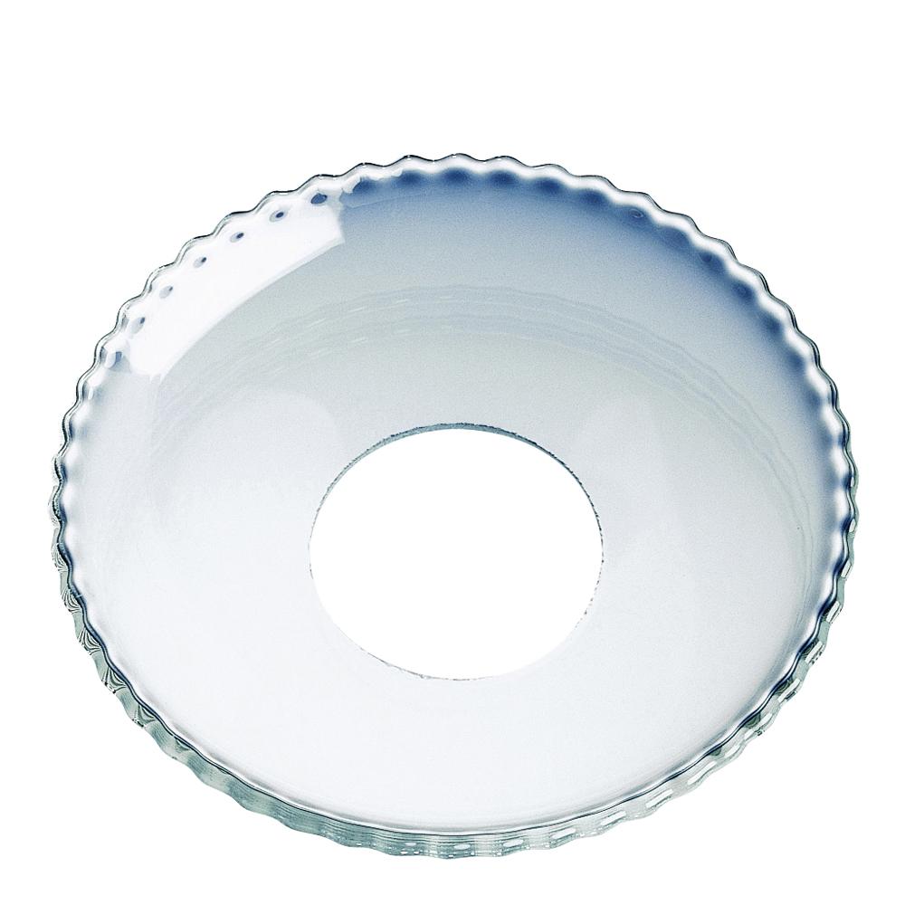 Ljusmanchett 6,5 cm Klar/pärlkant