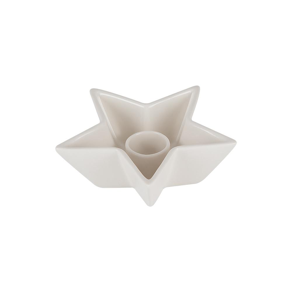 Ljushållare/Skål Stjärna Porslin 11,6 cm Vit