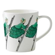 Elsa Beskow Mugg med öra 40 cl Tant Grön