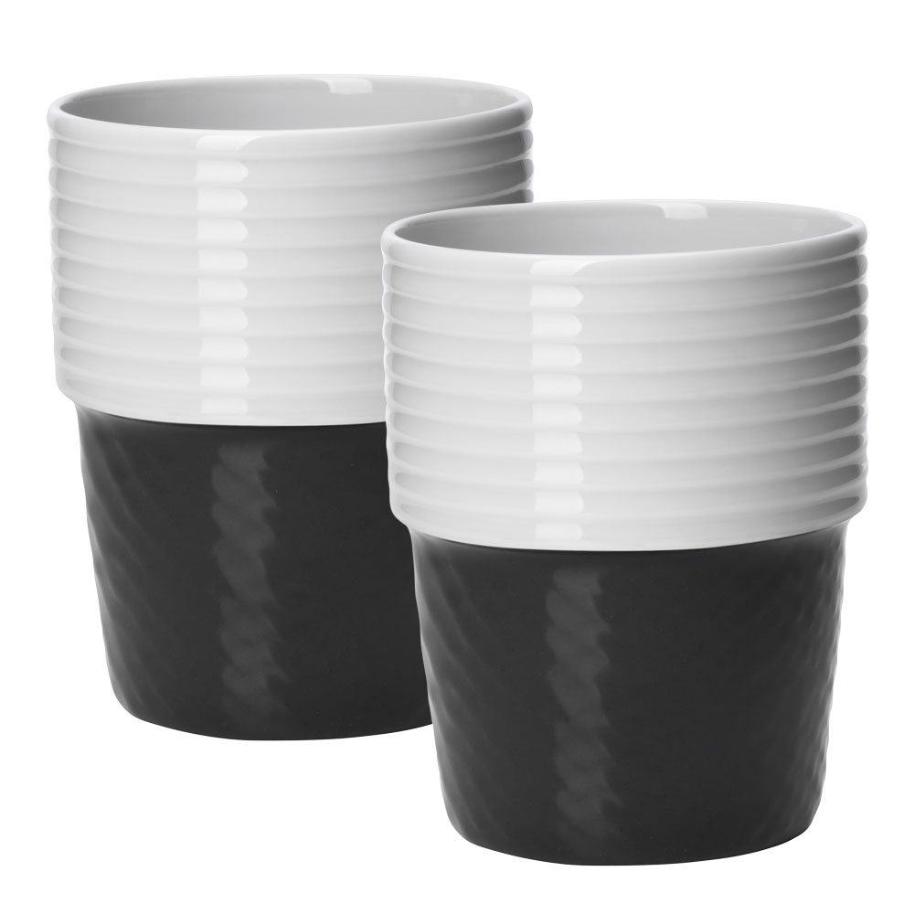 Filippa K Kaffemugg 31 cl 2-pack Coal