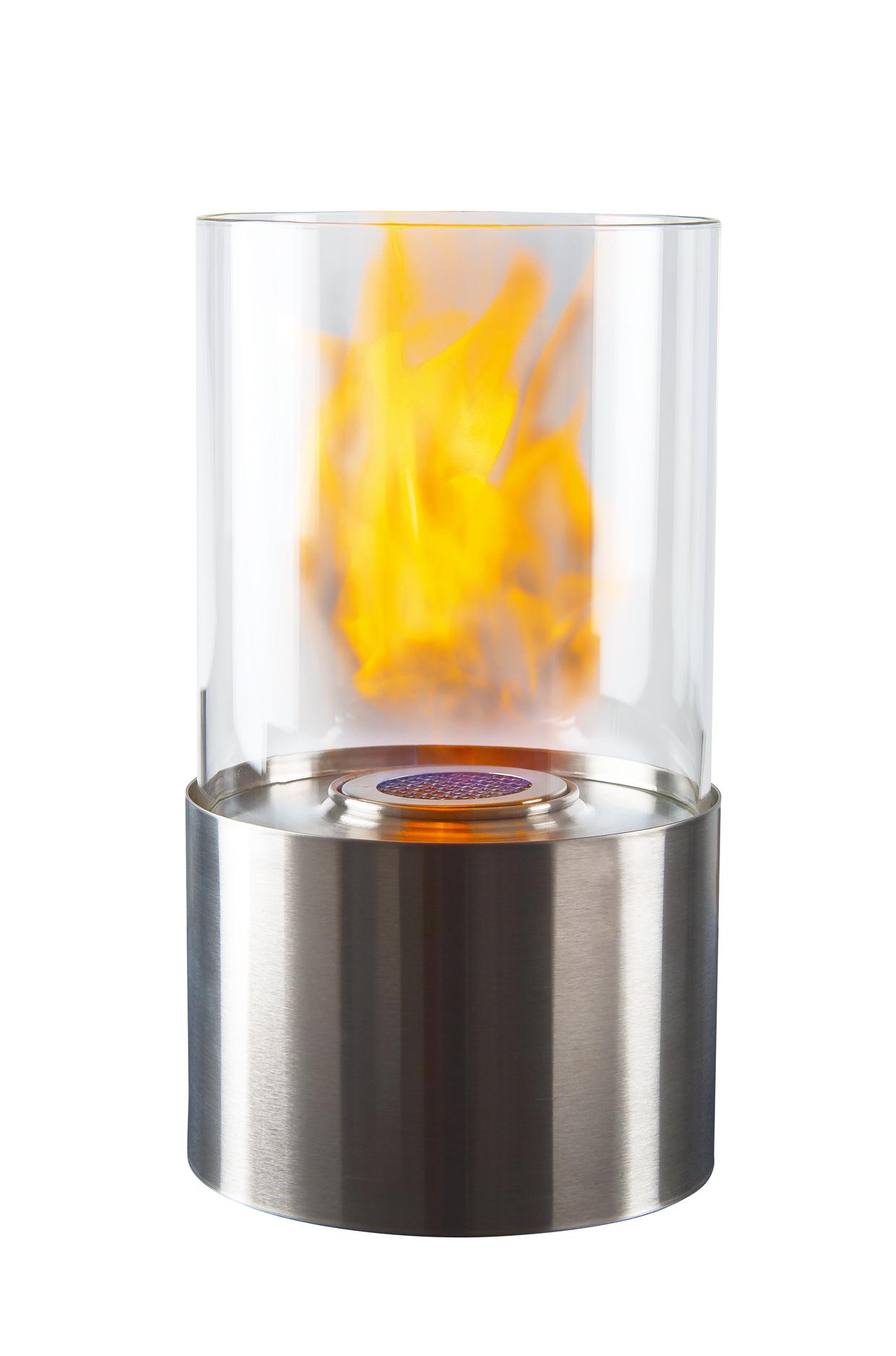 Lykta Bioetanol rund 28 cm Rostfri