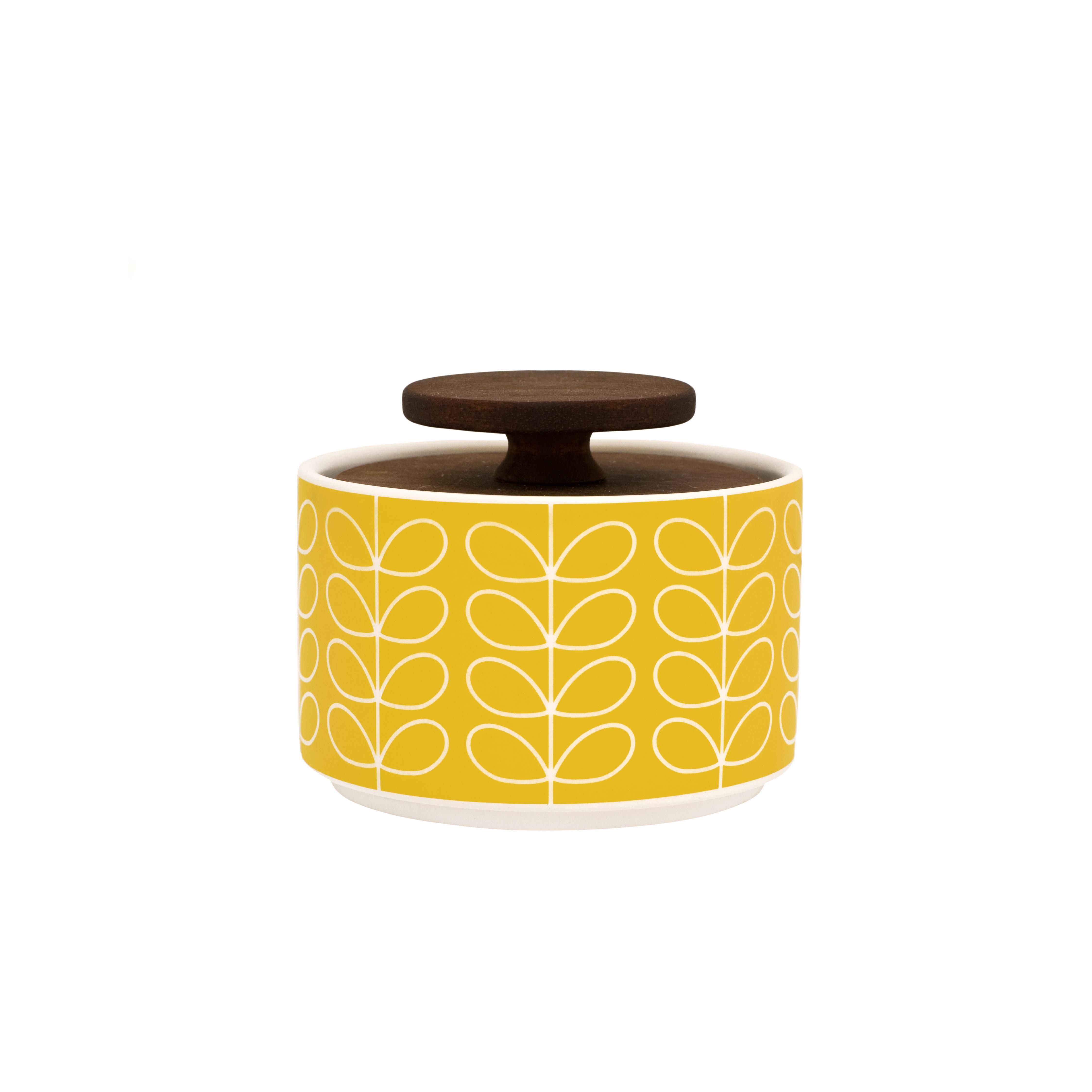 Linear Stem Sockerskål med lock 10 cm Gul