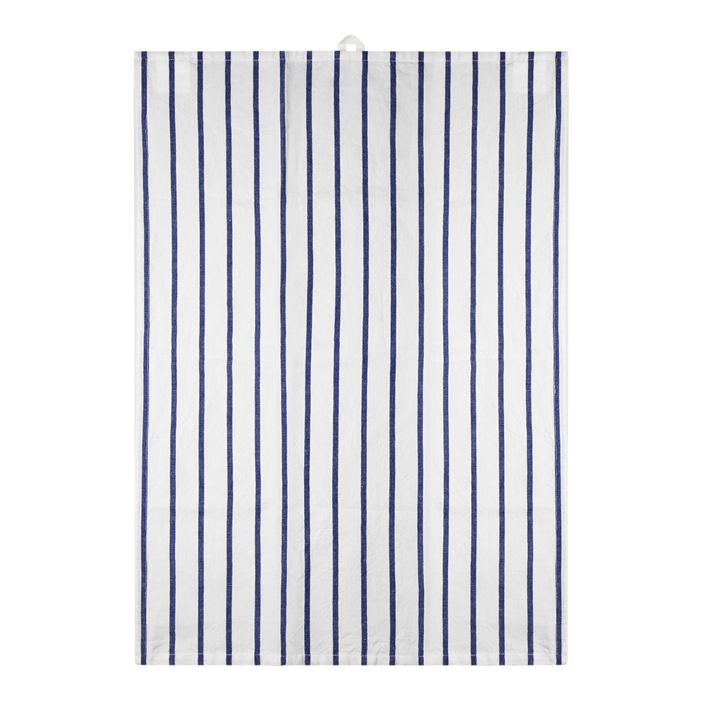 Signerat Handduk 50x70 cm Blå randig