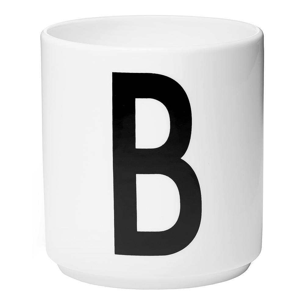 Design Letters Mugg B Vit
