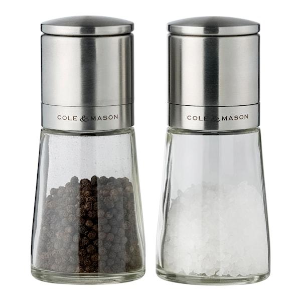 Clifton Salt/pepparkvarnsset Glas 14,5 cm