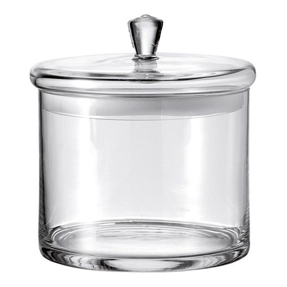 Glasburk med lock 20 cm Klar