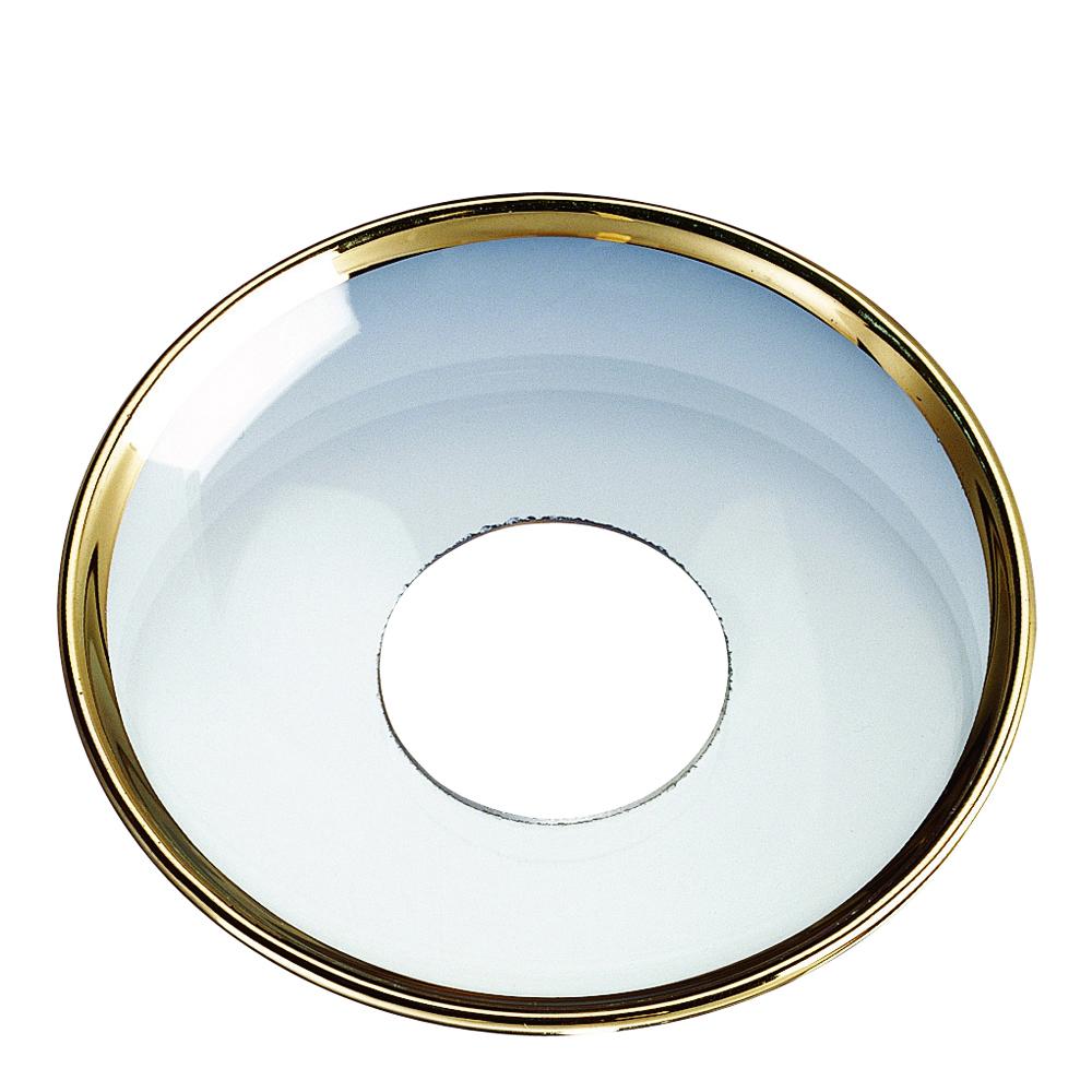 Ljusmanchett 6,5 cm Klar/guldkant