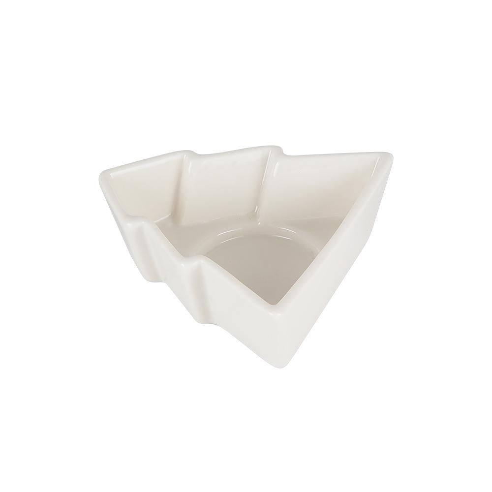 Ljushållare/Skål Gran Porslin 10 cm Vit