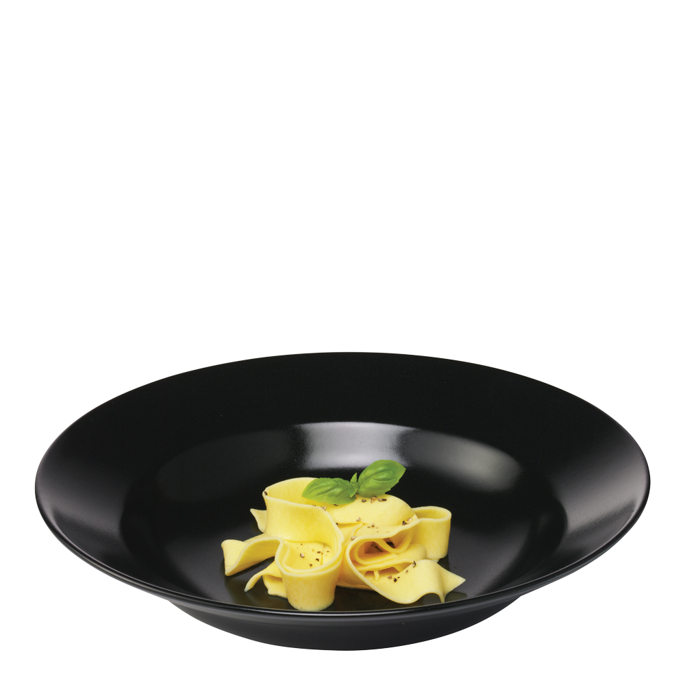 Aida Quadro Pastatallerken 30 cm Svart matt