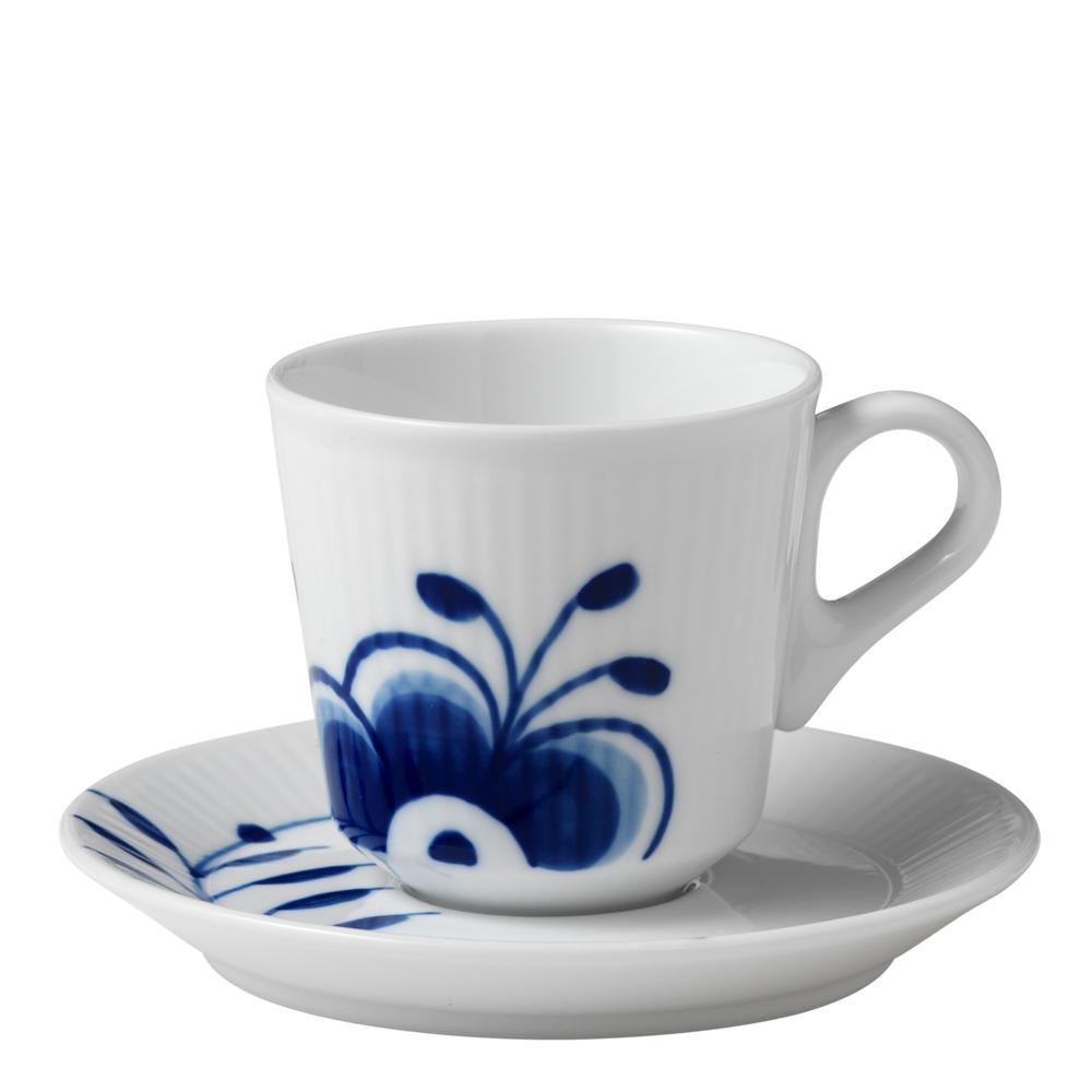Blue Fluted Mega Espressogods 9 cl