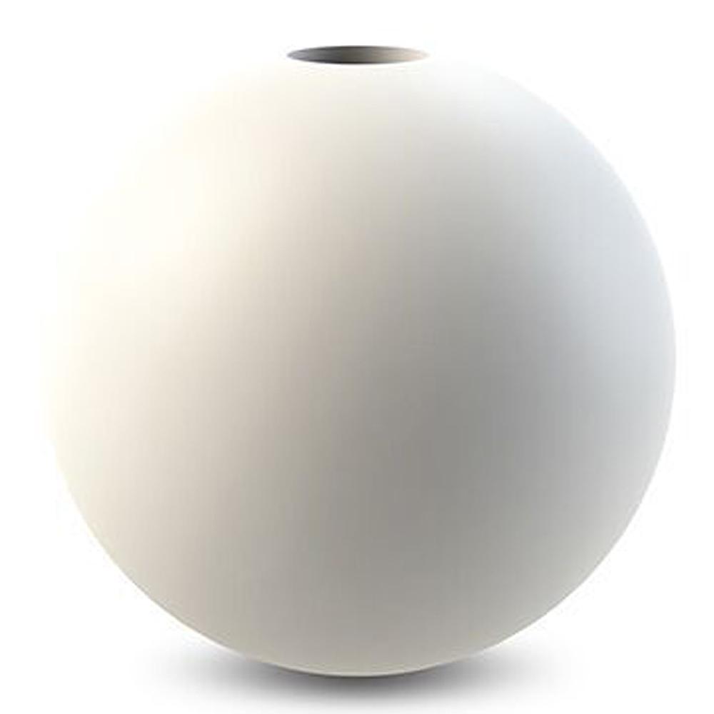 Ball Ljusstake Vit 10 cm