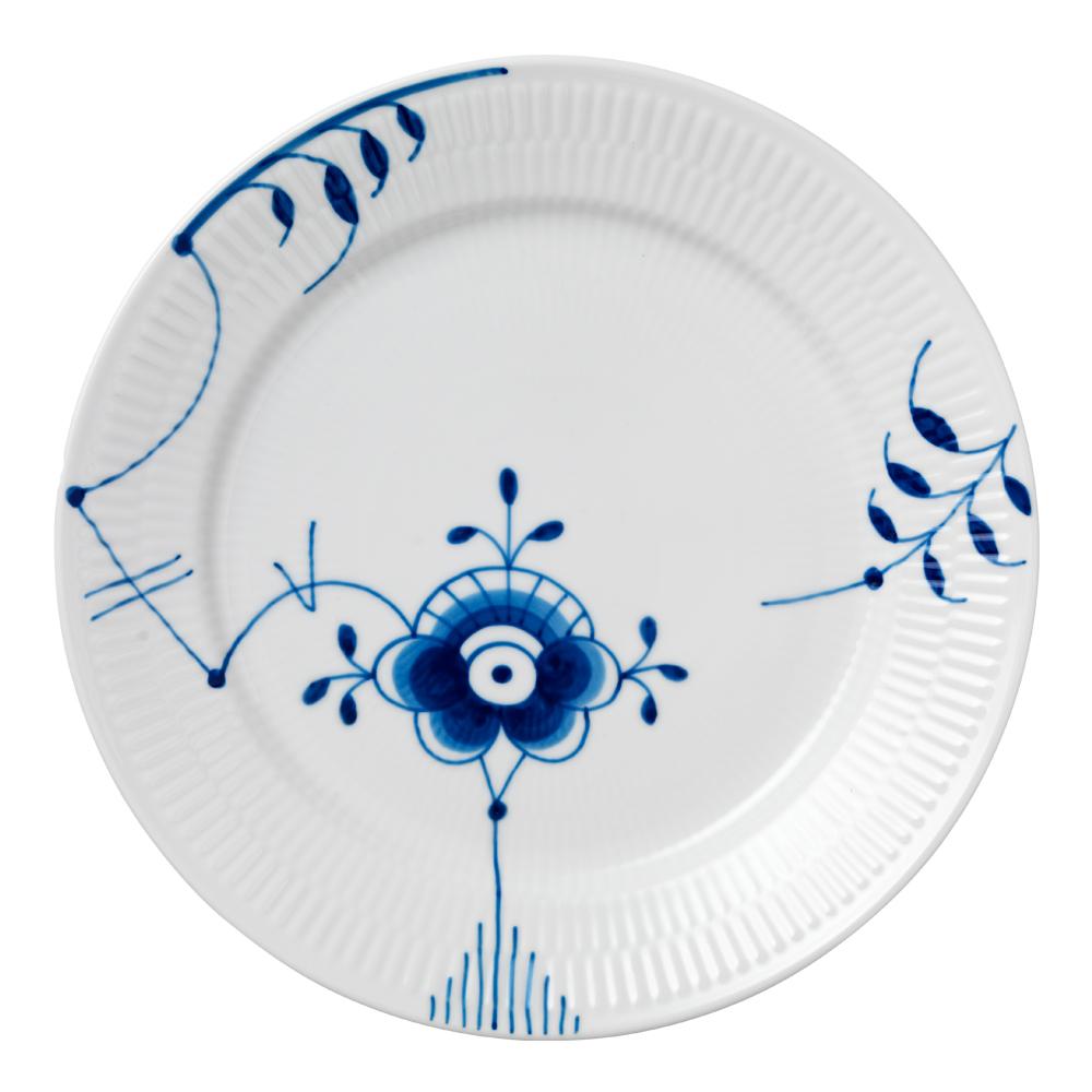 Blue Fluted Mega Tallrik flat 27 cm dekor 6