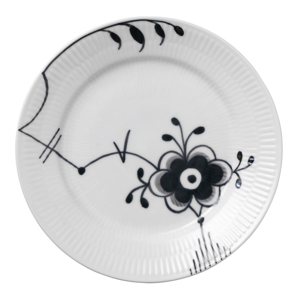 Black Fluted Mega Tallrik 22 cm dekor 6