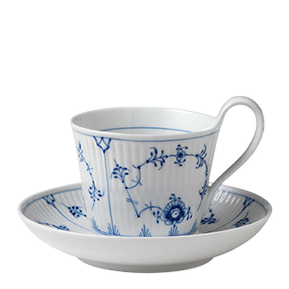 Blue Fluted Plain Kaffegods 25 cl högt handtag