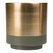 Aria Kruka 10x11 cm Grön/guld