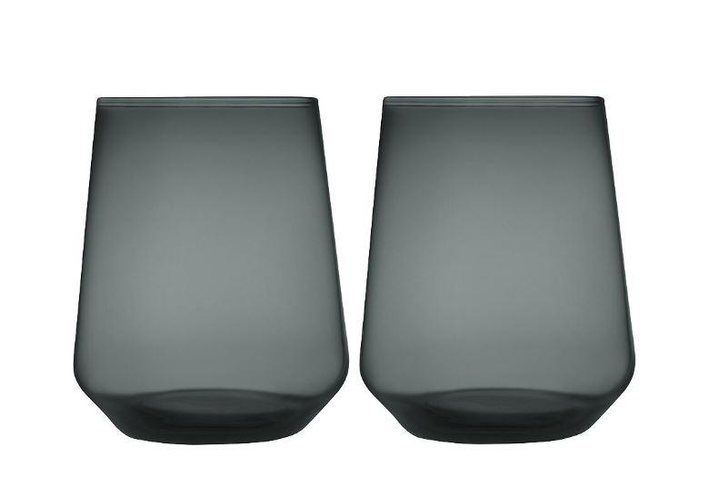 Essence Glas 35 cl 2-pack Mörkgrå