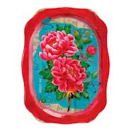 Floral Bricka Plåt