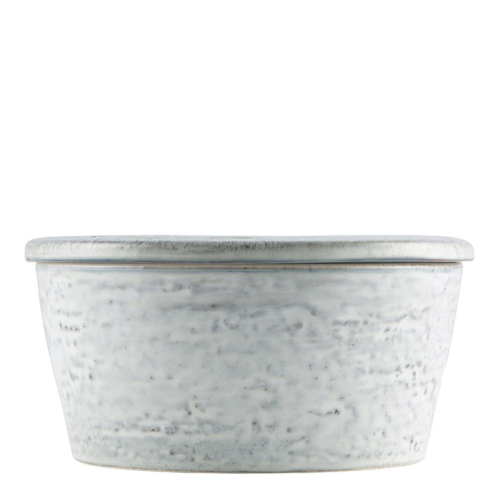 Rustic Skål med lock Grå/Blå 14 cm