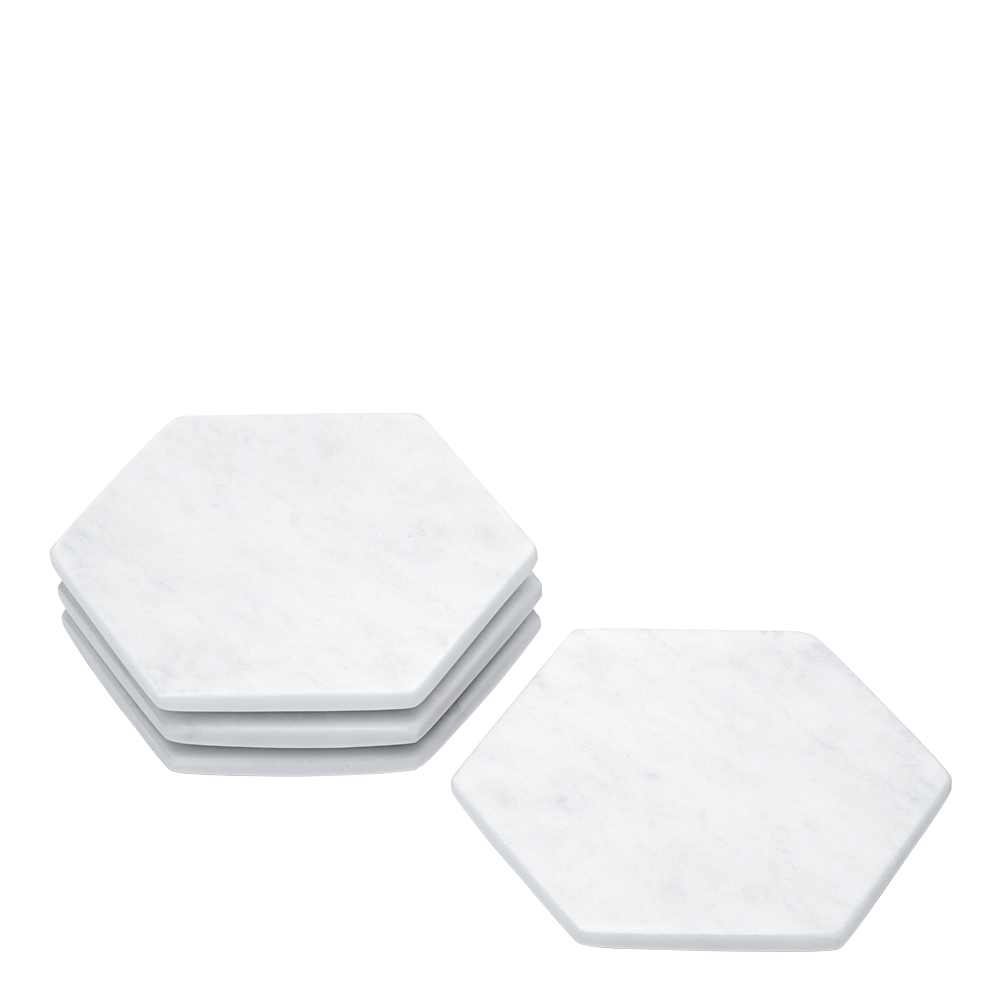Rumours Glasunderlägg 4-pack Vit marmor