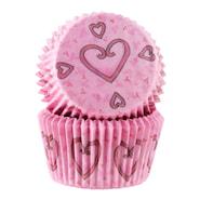 Form 5 cm hjärta rosa 50-pack