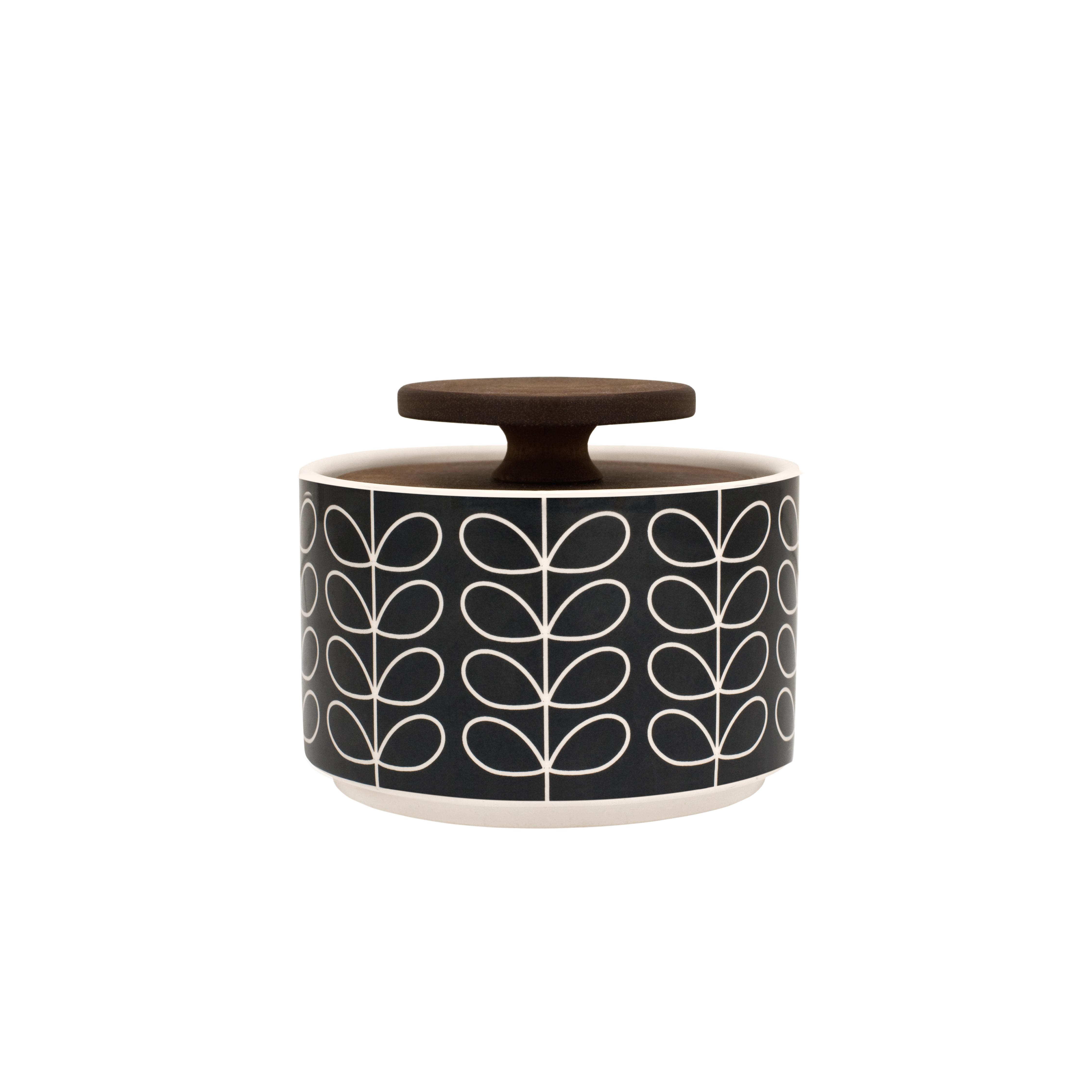 Linear Stem Sockerskål med lock 10 cm Grå