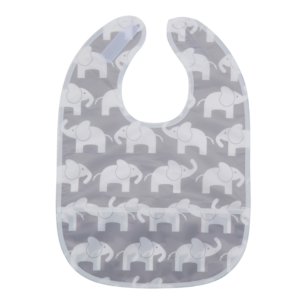 Elefant Haklapp Grå