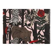 Veljekset Bordstablett 41x32 cm Svart/rosa textil