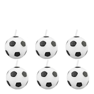 Tårtljus 5 cm Fotboll 6-pack