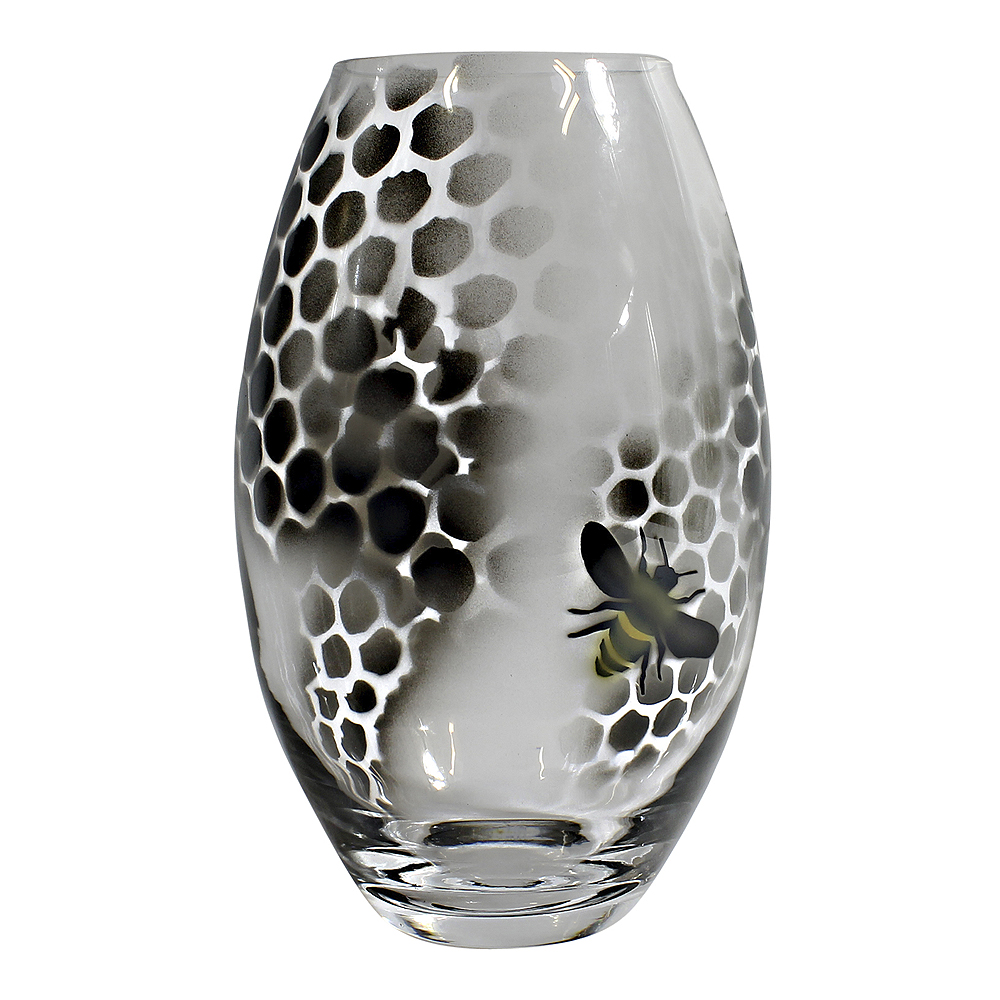 Honeycomb Vas 20 cm Svart