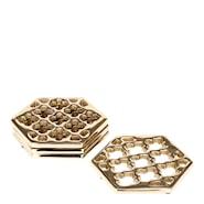 Rumours Glasunderlägg 4-pack hexagon Mässing