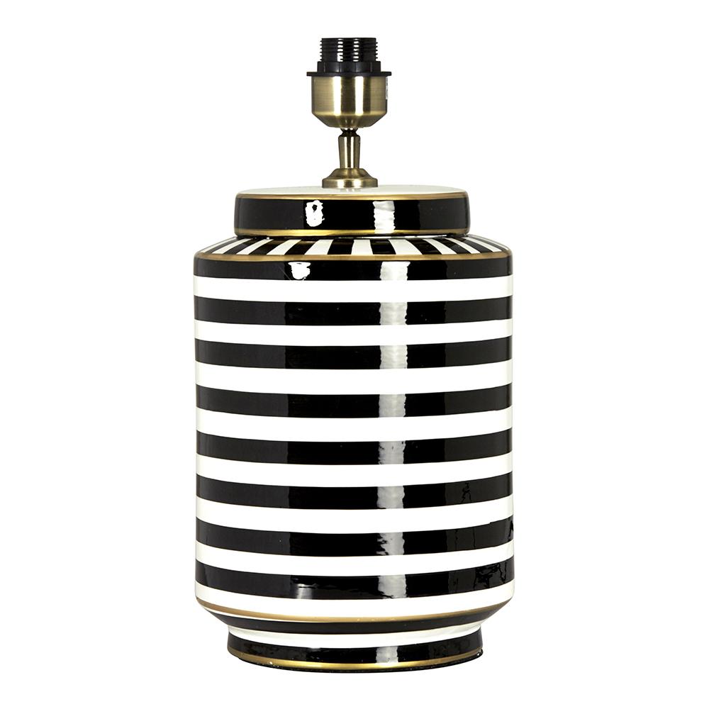 Gatsby Lampfot 43 cm Svartvit