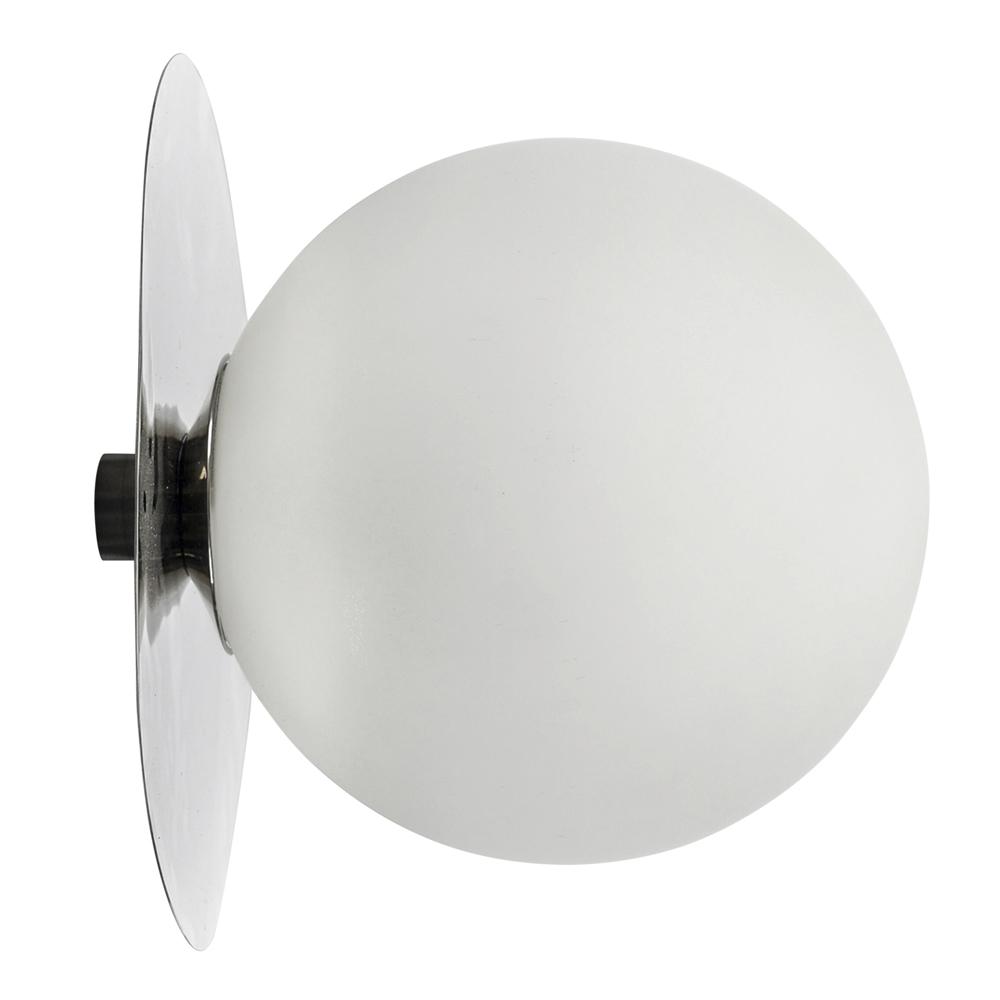Lush Globe Vägglampa 27 cm Silver/Vit