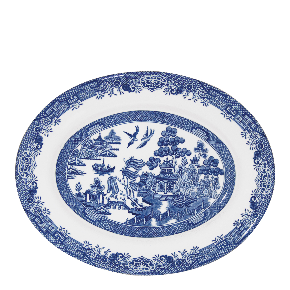 Blue Willow Tallrik oval 31 cm
