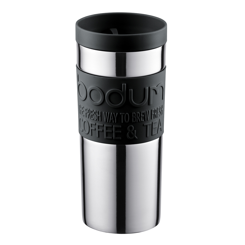 Travel Mug Resemugg 35 cl Svart/Krom
