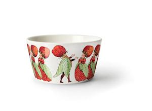 Elsa Beskow Skål 50 cl Familjen jordgubbe
