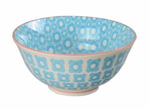 Oriental Risskål 12 cm Blå/Vit