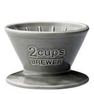 Slow Coffee Filterhållare 2 koppar porslin