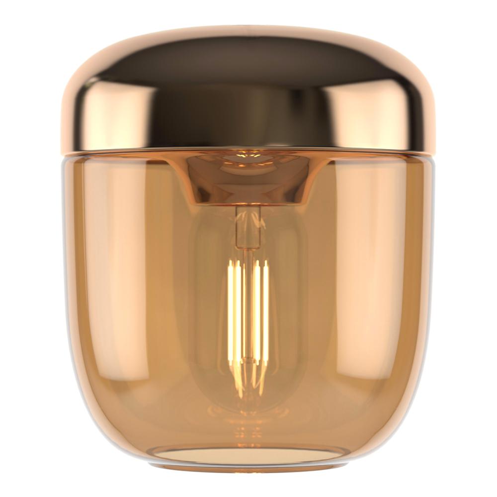 Acorn Lampskärm 14 cm Mässing/Bärnsten
