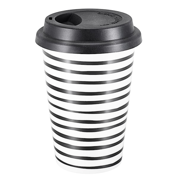 Intro To Go Mugg  25 cl Svart rand